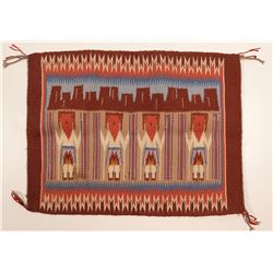 Miniature Navajo Yei Rug  109594