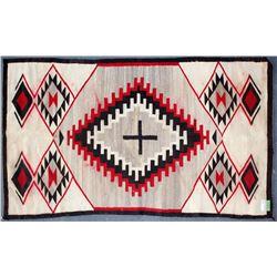 "Navajo Rug / "" Double Diamond W/ Cross.  109688"