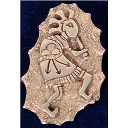 Cherokee Sterling Silver Kokapelli Pendant by Lee Epperson  108283