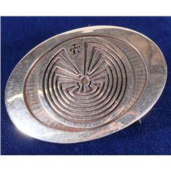 Hopi Sterling Silver Maze Belt Buckle by Jason Takala.  108279