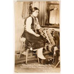 Pueblo Indian Girl Weaver RPC  100530