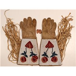 Native American Gauntlet Gloves & Bonus Item / 2 Items.  109604