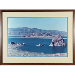 Framed Pyramid Lake Photo  87608