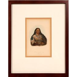 "Native American  Lithograph / "" The Mink"" / By George Catlin.  109616"