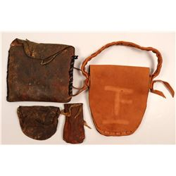 Native American Medicine Bags & Pokes / 4 items.  109607