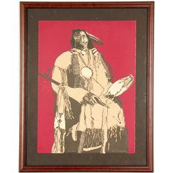 Buckskin Indian State II - Litho by Fritz Scholder  101009