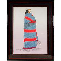 Carol's Blanket - Serigraph by RC Gorman  101041