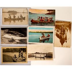 Indians in Canoes Post Cards  100522