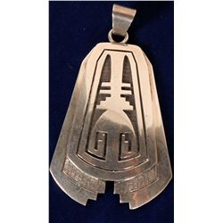 Native American Heavy Sterling Silver Pendant  108285