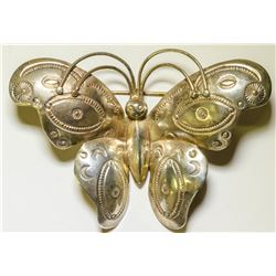 Native American Silver Butterfly Breast Pin  108138