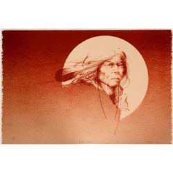 Spirit Moon - Serigraph by Mike Larsen  101060