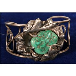 Sterling Silver & Turquoise Cuff Bracelet  108275