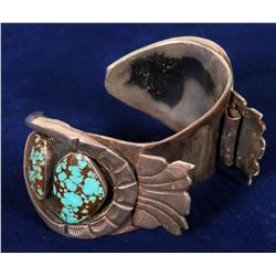 Sterling Silver and Turquoise Watch Bracelet  108274