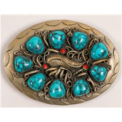 Turquoise Navajo Belt Buckle  108135