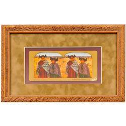 Stereoview of Moki Indian Maidens (Framed)  102730