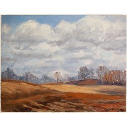 Bre Trees in Winter Grove - Oil on Canvas by La Verne Lane  80808