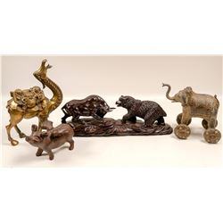 Chinese Animal Figurines (4)  105999