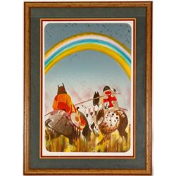 Along the Rainbow Trail Litho by Earl Biss  101008