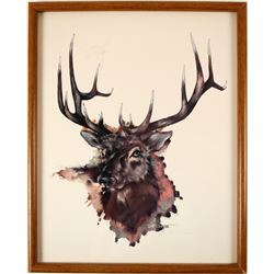 Large Buck Print by John Livingston  79177
