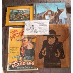 """Vintage Columbia Pictures Tim McCoy / John Wayne Poster """"Two Fisted Law""""  - Highly Collectible!  108"""