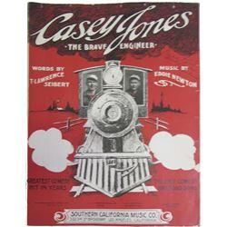Casey Jones The Brave Engineer Sheet Music  86428