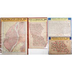 Maps of Missouri and Kansas (4)  63549