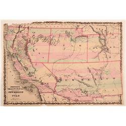 Map of  California, Territories of New Mexico & Utah  108546