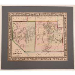 Map of Nevada & Utah  108542