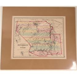 Map of Territories of New Mexico & Utah  108545