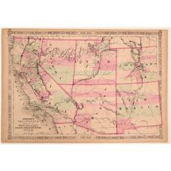 Map of California & Territories of N.M., AZ, Colorado, NV & Utah  108547