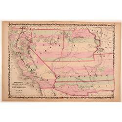 Map of Johnson's California Territories of New Mexico & Utah  109495