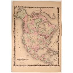 Map of North & Central America  109494