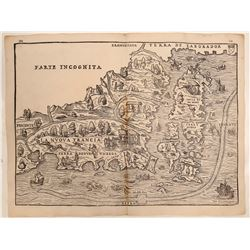 First Published Map of New England 1606 (1556)  108950