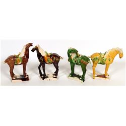 Chinese Horse Figurines (8)  108513