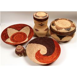 Native American Style Baskets/ Replicas / 5 Items  109626