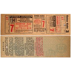 1941 Full World Series Ticket  104090