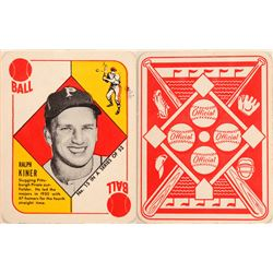 1951 TOPPS Red Back Ralph Kiner Card  104072