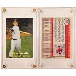 1957 TOPPS #95 Mickey Mantle MVP Card Repro  104068