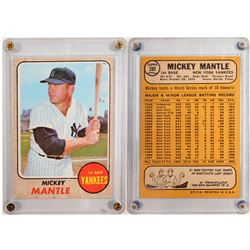 1968 TOPPS Mickey Mantle Card  104081