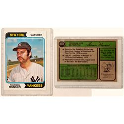 1974 TOPPS Thurman Munson Card  104076