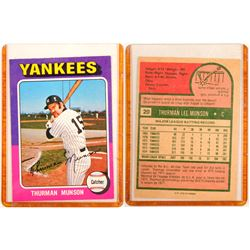 1975 TOPPS Thurman Munson Card  104077