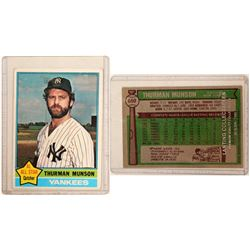 1976 TOPPS Thurman Munson Card  104078