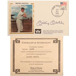 1986 Mickey Mantle Autographed Postcard  104091