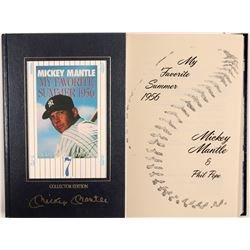 "Mickey Mantle ""My Favorite Summer"" signed Hard Cover Edition  104095"