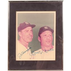 Mickey Mantle & Joe DiMaggio Yankees Dual-Signed 8x10 Print  104546