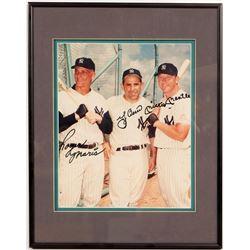Roger Maris, Yogi Berra, Mickey Mantle Yankees Triple-Signed Photo  104550
