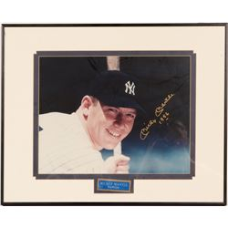 Signed 11 x 14 Mickey Mantle inscribed 1956  104553