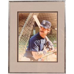 Signed 8 x 10 of Don Mattingly  104544