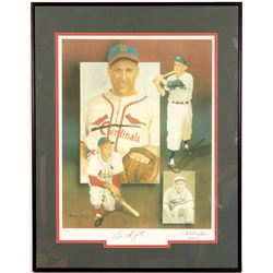 Signed Enos Slaughter Lithograph by Christoper Paulson  104555