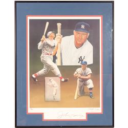 Signed Johnny Mize Lithograph by Christoper Paulson  104556
